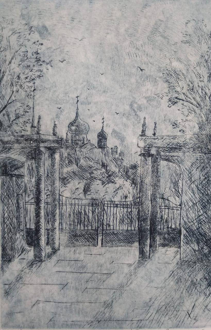 Sergei Nikolayevich Khodorenko-Zatonsky. Cathedral view