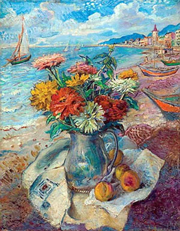 Давид Давидович Бурлюк. Американский натюрморт на пляже