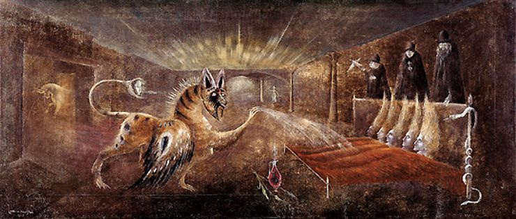 Leonora Carrington. Grunting (They will be your eyes)