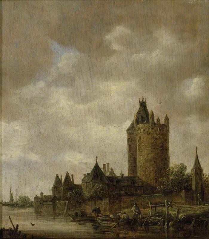 Jan van Goyen. Castle on the river