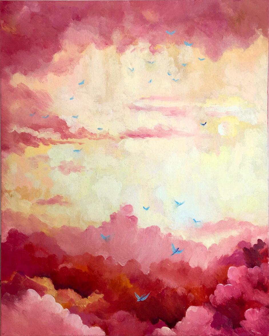 Maya Moskvicheva. Red sky