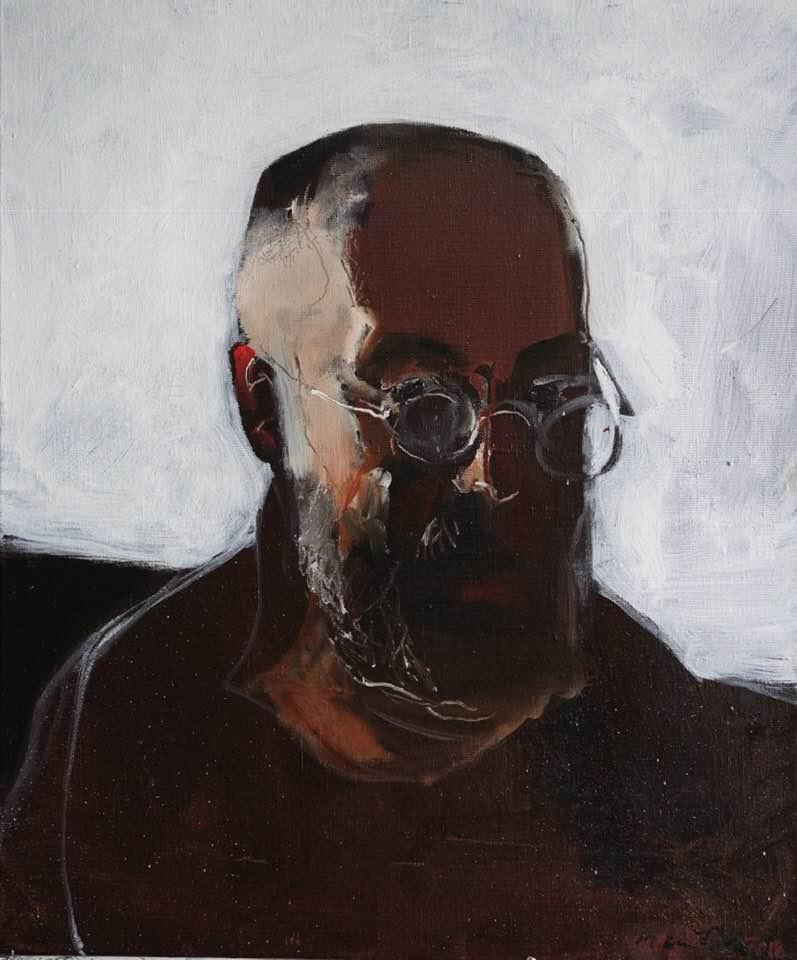 Матвей Вайсберг. Автопортрет в круглых окулярах
