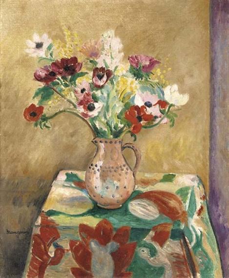 Henri Manguin. A jug of anemones