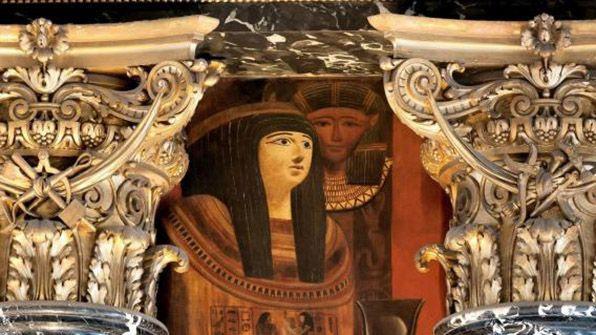 Густав Климт. Египетское искусство. (Роспись для музея истории искусства в Вене, правая половина)