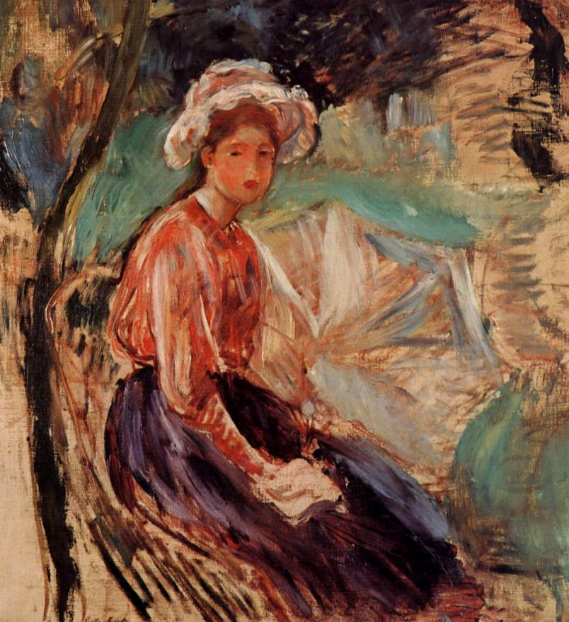 Berthe Morisot. Girl with umbrella