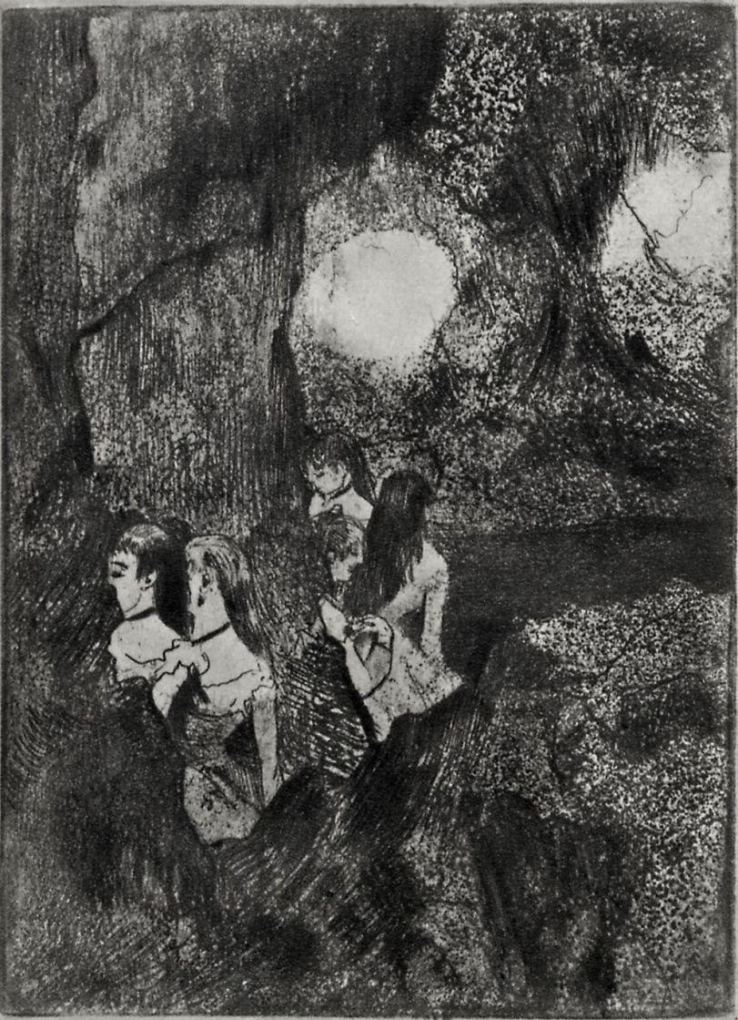 Edgar Degas. Dancers behind the scenes