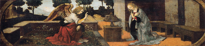 Леонардо да Винчи. Благовещение