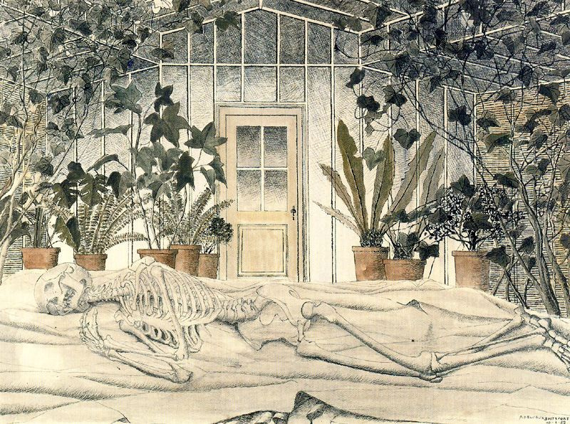 (ohne Name). Das Skelett