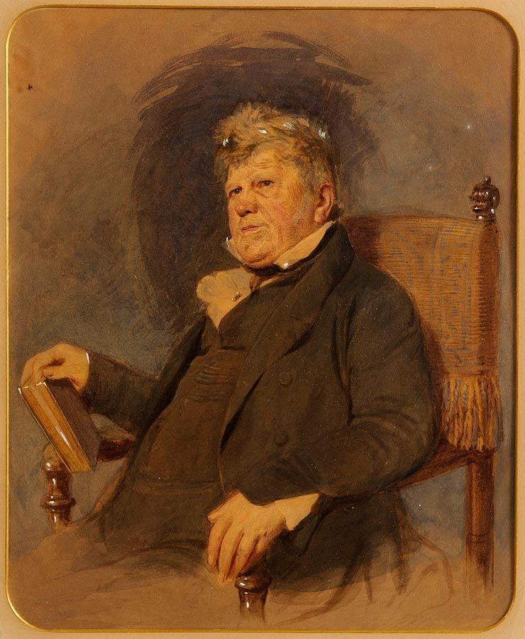 Frederick William Burton. Portrait of a gentleman with a book