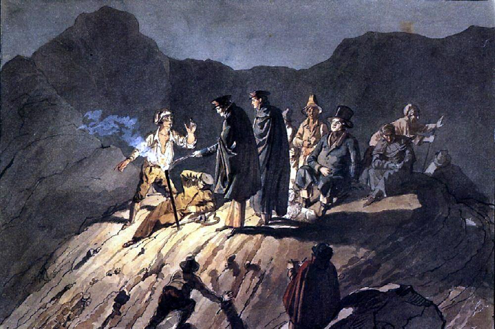 Карл Павлович Брюллов. Участники экспедиции на Везувий