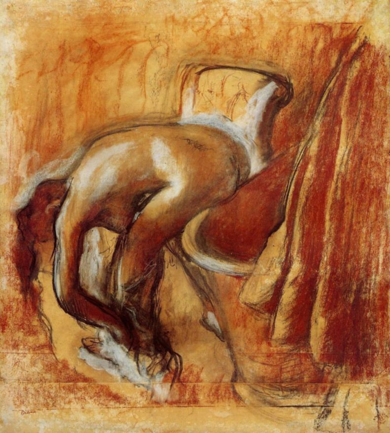Эдгар Дега. Женщина после ванны