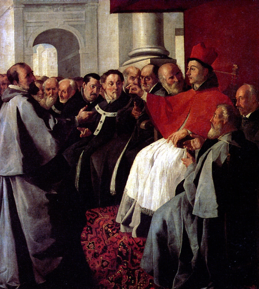 Франсиско де Сурбаран. Св. Бонавентура на Лионском соборе