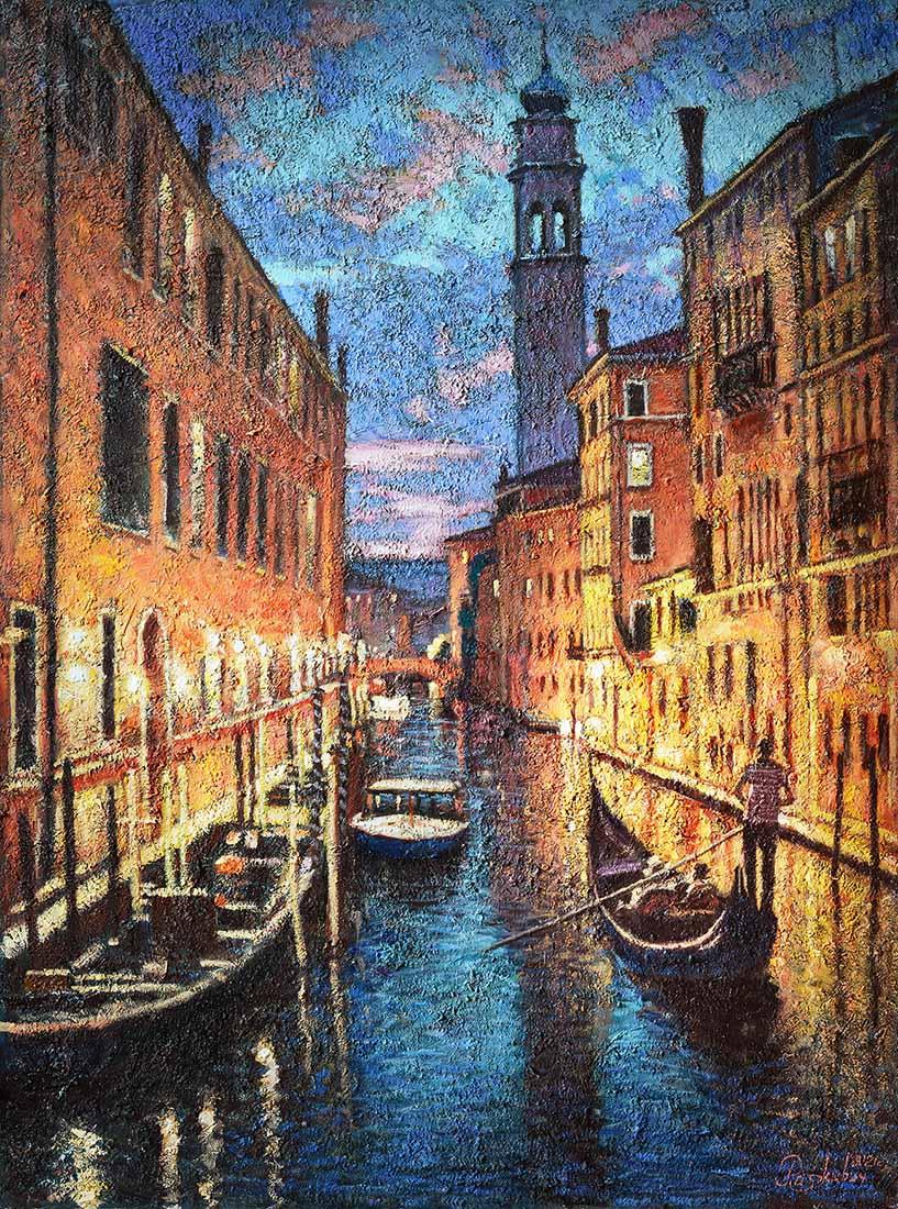 Igor Razzhivin. The beauty of Venice in the evening