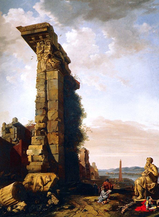 Варфоломей Бренбергх. Идеализированный вид с римскими руинами