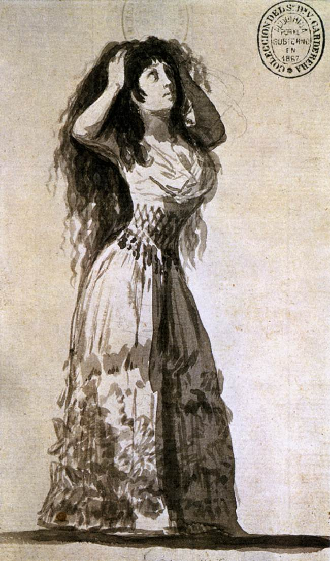 Francisco Goya. The Duchess of Alba, a stacking hair