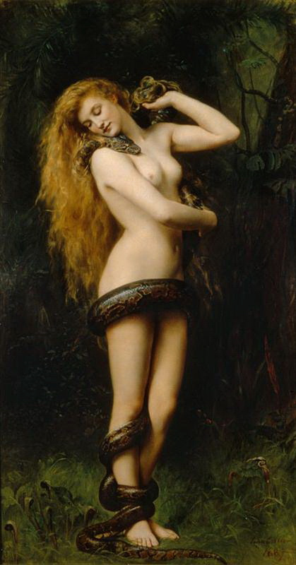 Джон Кольер. Обнаженная девушка и змей
