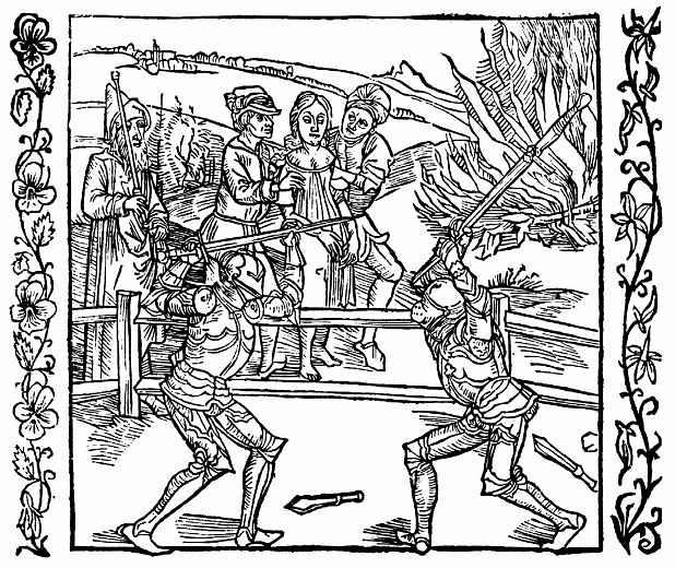 Альбрехт Дюрер. Рыцарь спасает невинно осуждённую девицу
