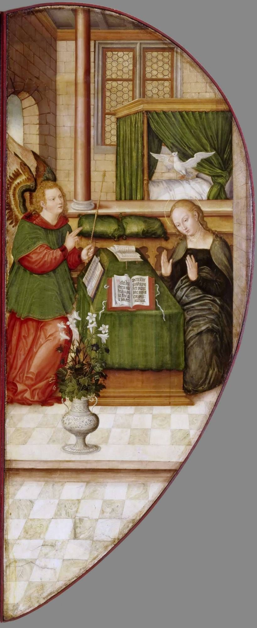 Lucas the Younger Cranach. The Altar Colditzer. Right outer wing: Annunciation