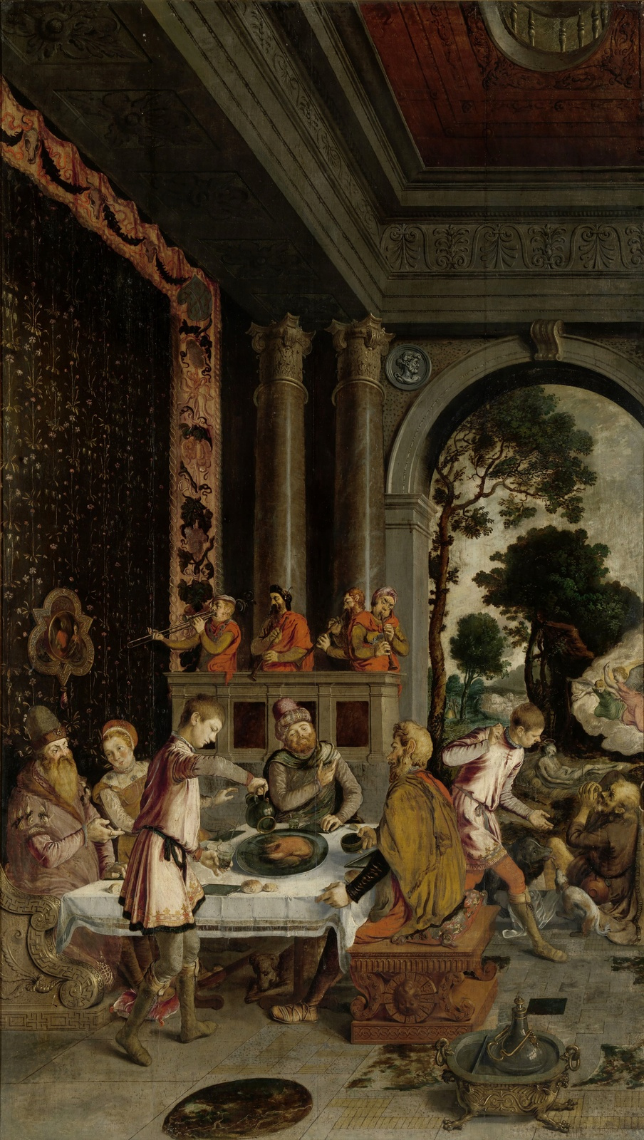 Неизвестный  художник. Нидерландская школа. 1550-1575 Притча о богаче и Лазаре.