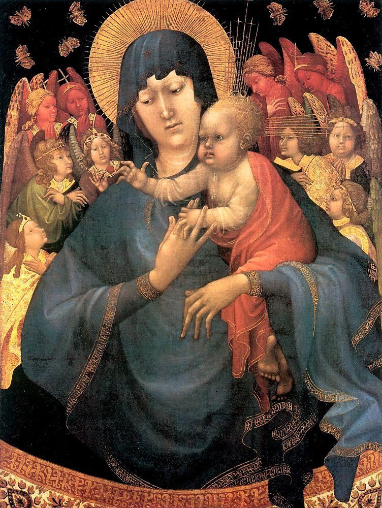 Жан Малоуел. Богородица с младенцем
