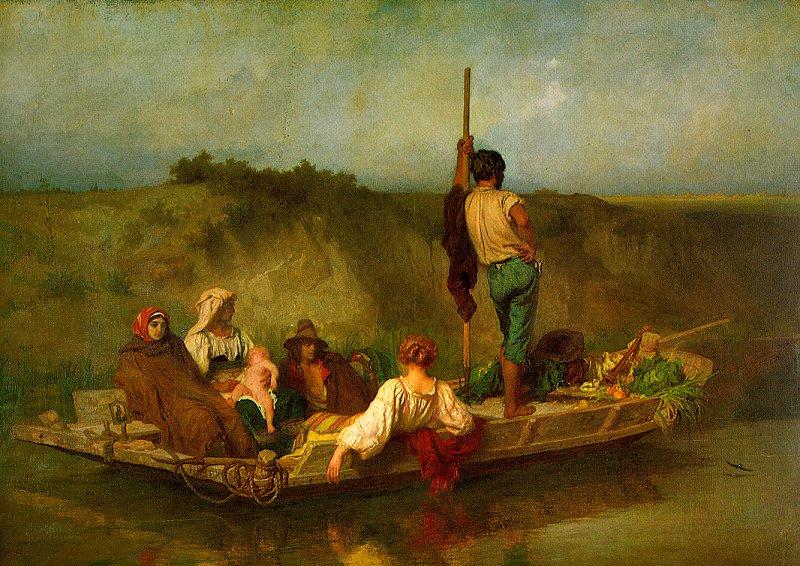 Anton Auguste Ernst Eber. In the boat