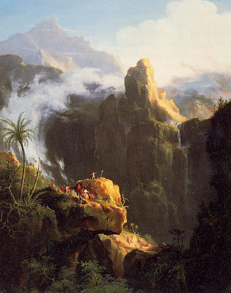 Thomas Cole. Composition Saint John in the wilderness