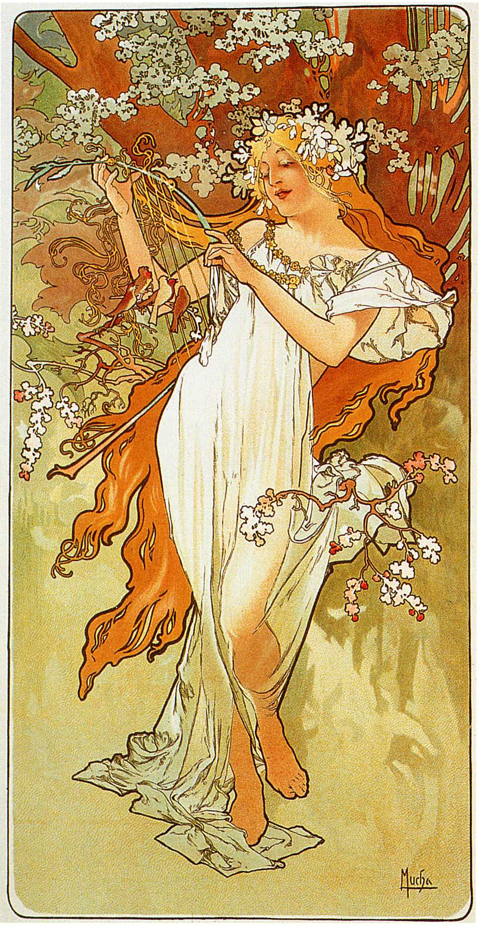 Alfons Mucha. Spring. Series Seasons