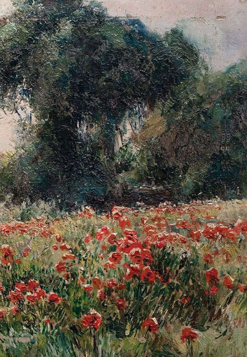 Mikhail Andreevich Bercos. Poppies in bloom (detail)