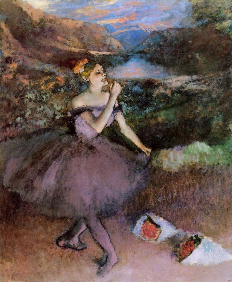 Эдгар Дега. Балерина с букетами