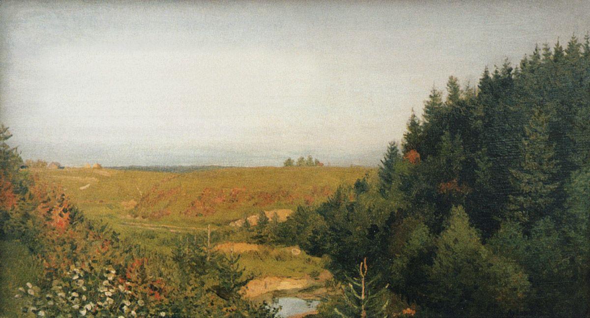 Исаак Ильич Левитан. Пейзаж с лесной рекой