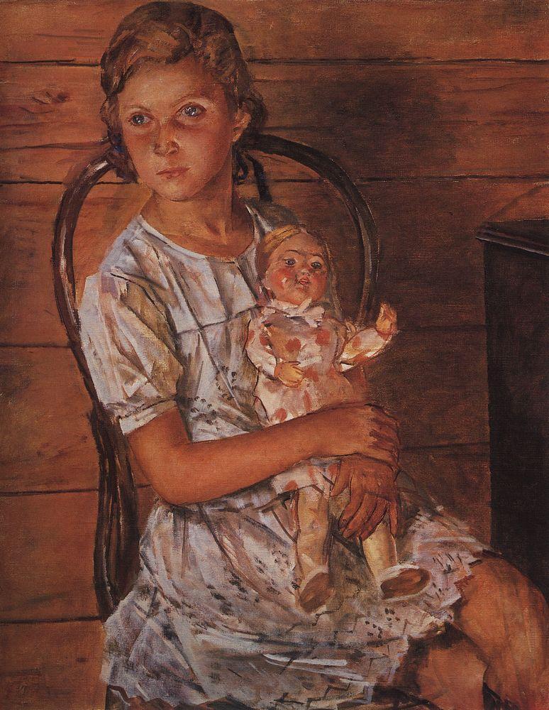 Кузьма Сергеевич Петров-Водкин. Девочка с куклой