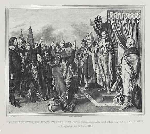 Адольф фон Менцель. Фридриху Вильгельму, великому курфюрсту