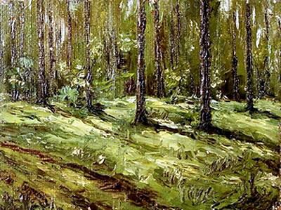 Давид Давидович Бурлюк. Летний лес