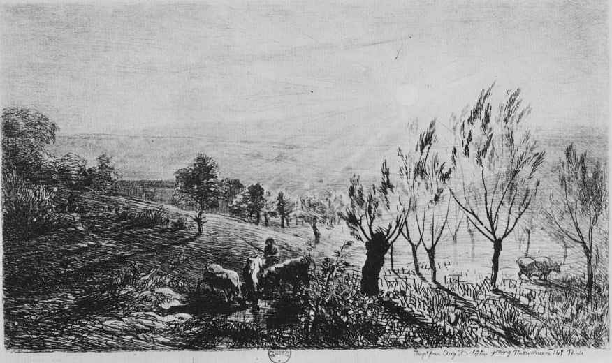 Charles-Francois Daubigny. Sunrise