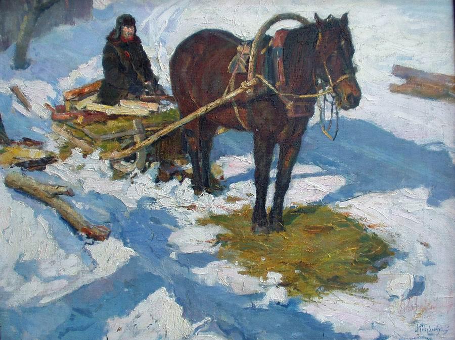 Albin Stanislavovich Gavdzinsky. Sednev. Winter