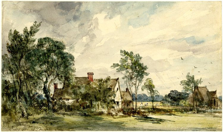 John Constable. Landscape with cottages, East Bergholt