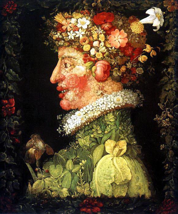 Giuseppe Arcimboldo. 4 seasons. Spring series (the Louvre)