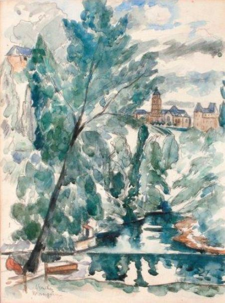 Henri Manguin. Uzerche, France. Tree over the river
