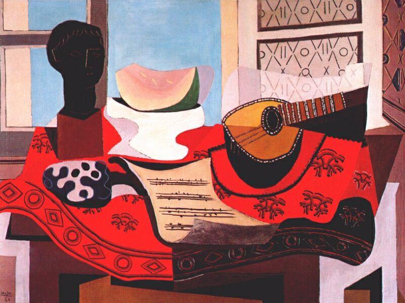 Пабло Пикассо. Натюрморт с мандолиной