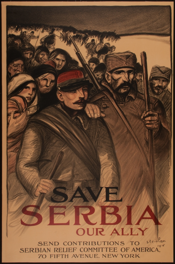 Theophile-Alexander Steinlen. Let's save our allies in Serbia