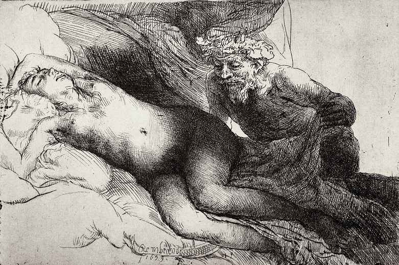 Рембрандт Ван Рейн. Юпитер и Антиопа