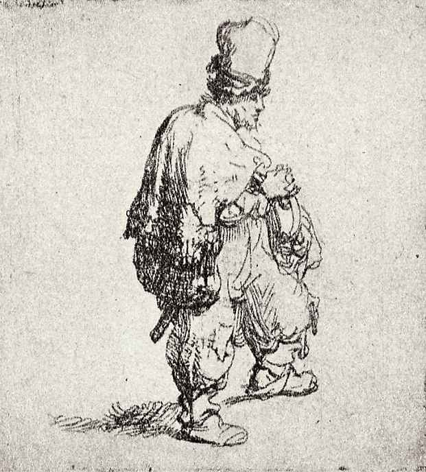 Рембрандт Ван Рейн. Поляк в высокой шапке