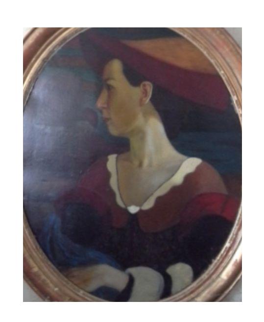 Ivan Ivanovich Zakharov. Female portrait. Agapieva Natalia Nikolaevna.