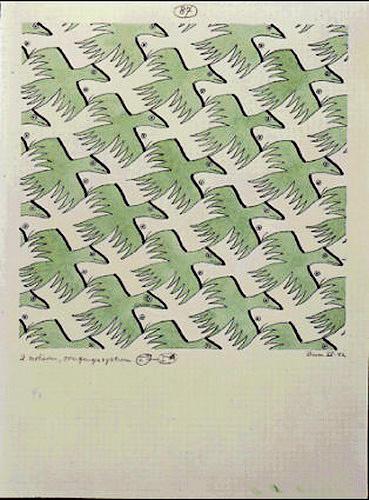Maurits Cornelis Escher. Two Birds (No. 87)