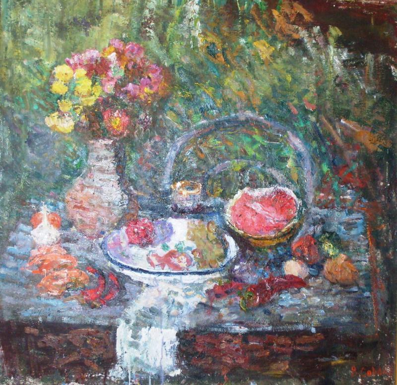 Виктор Семенович Сорокин. Still life with watermelon