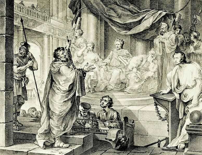 William Hogarth. Paul before Felix