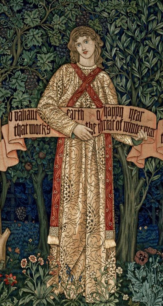 William Morris. Orchard. Fragment IV