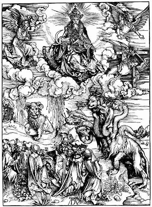 Альбрехт Дюрер. Семиглавый дракон и рогатый зверь