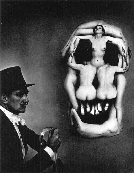 Unknown artist. Woman skull