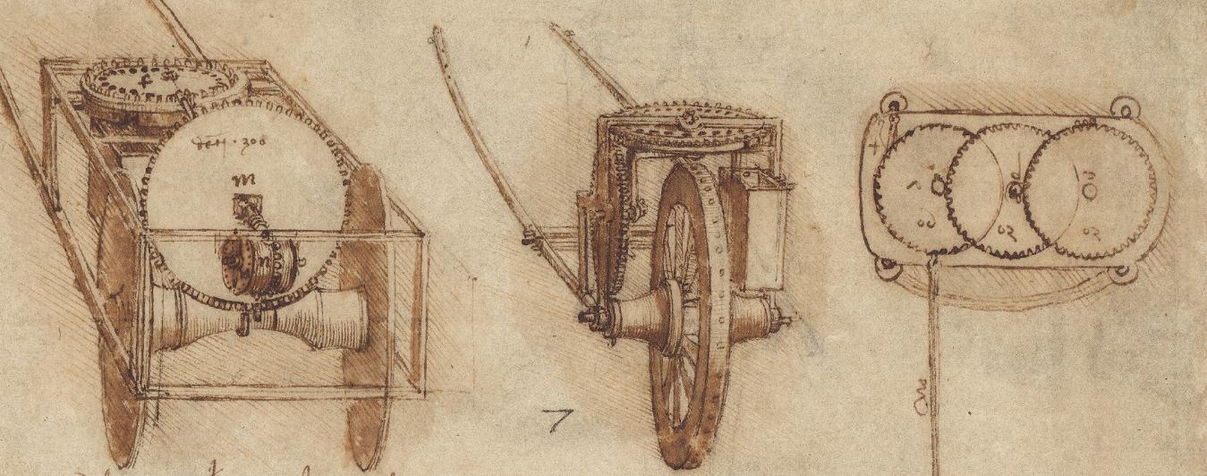 Leonardo da Vinci. Odometer (from the Artlantic Code)
